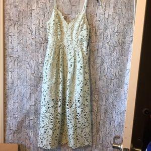 Astr light green lace dress